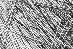 Shiny iron nails Stock Photos