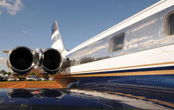 Shiny jet airplane Royalty Free Stock Photos