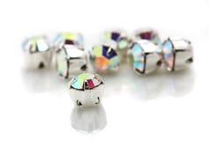 Shiny Jewelry. A pile of shiny jewelry isolated on white background Stock Photo