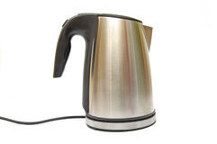 Shiny kettle Stock Photo