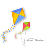 Shiny kites for Happy Vasant Panchami celebration. Royalty Free Stock Photography