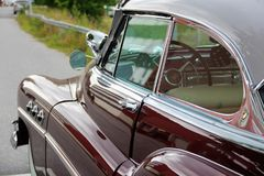 Shiny lacquer and chrome. Nostalgia for beautiful summer days Royalty Free Stock Photo