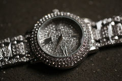 Shiny ladies watch. With elaborate details Stock Photo