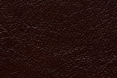 Shiny leather texture in stylish brown colour. High resolution photo Stock Image