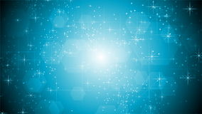 Shiny light blue sparkling video animation stock footage