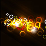 Shiny light circle abstract background, illustration Royalty Free Stock Photo