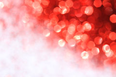 Shiny light effects with blurry lights and glittering snowflakes and white place for text Stock Photography