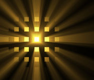 Shiny light square grid sun halo flares Royalty Free Stock Photos