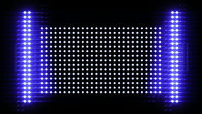 Shiny light wall, 3d animation Royalty Free Stock Images