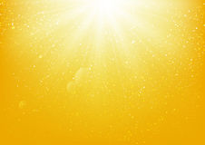 Shiny light on yellow background Royalty Free Stock Images
