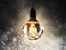 Shiny lightbulb Royalty Free Stock Photos