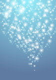 Shiny lights. Shiny Christmas background with starry lights Stock Images