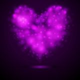 Shiny lights abstract vector heart Royalty Free Stock Photo