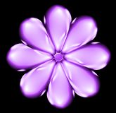 Shiny lilac flower. Abstract illustration shiny lilac purple flower Stock Photography