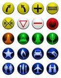 Shiny map icons Royalty Free Stock Photo