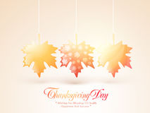 Shiny maple leaves for Thanksgiving Day celebration. Royalty Free Stock Photography
