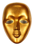 Shiny mask gold isolated Royalty Free Stock Image