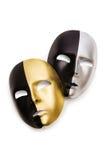 Shiny masks. Isolated on white background Royalty Free Stock Photography