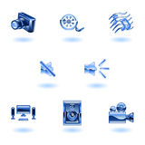 Shiny Media Icons Royalty Free Stock Images