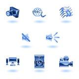 Shiny Media Icons. A set of shiny slossy media icons Royalty Free Stock Images