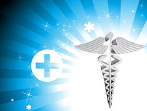 Shiny medical rays background Stock Image