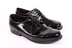 Shiny men's dressy shoes Royalty Free Stock Photography