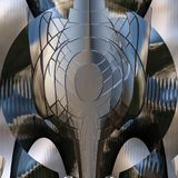 Shiny metal abstract surface - metal pattern background Stock Photography