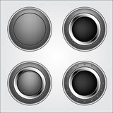 Shiny metal button Stock Photography