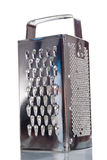 Shiny metal grater isolated over white Royalty Free Stock Photos