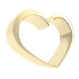 Shiny metal heart shape golden symbol emblem Royalty Free Stock Images