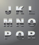 Shiny metal letters. In chrome Royalty Free Stock Photo