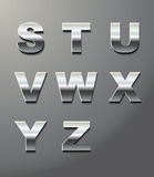 Shiny metal letters