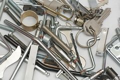 Shiny metal objects royalty free stock images
