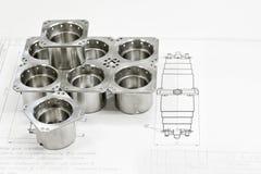 Shiny metal parts Stock Photos