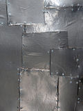 Shiny Metal Patchwork Abstract. Royalty Free Stock Photos