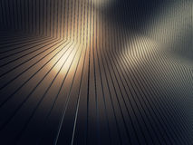 Shiny metal plate. 3d render metalplate abstract background Stock Image