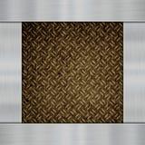 Metal on carbon fibre Stock Images