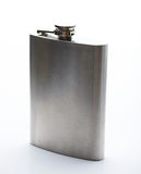 Shiny metal stainless flask Royalty Free Stock Images