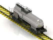 Shiny metal tank car of oil Stock Images