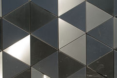 Shiny metal triangles background Royalty Free Stock Photos