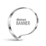 Shiny metal vector vector banner Stock Image