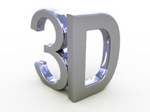 Shiny metallic 3d word Stock Photography