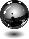 Shiny metallic ball Royalty Free Stock Photo