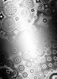 Shiny Metallic Circles Texture. An abstract texture pattern background of circles and dots with gradient white to black and glow in the center royalty free illustration