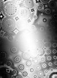 Shiny Metallic Circles Texture royalty free illustration