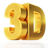 Shiny Metallic 3d Word 3D Made of Gold. 3d illustration Stock Images