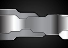 Shiny metallic futuristic tech background Royalty Free Stock Images