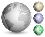 Shiny metallic globes Royalty Free Stock Photo