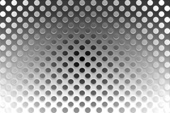 Shiny Metallic Grille Stock Photography