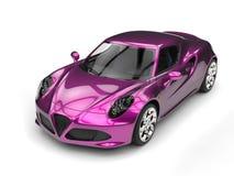 Shiny metallic magenta sports car stock illustration